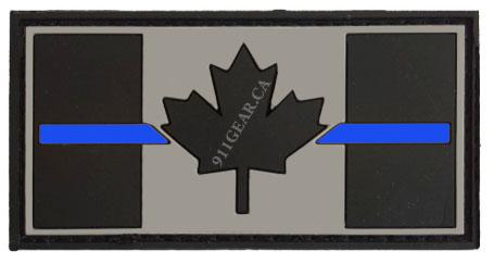 PVC SECURITY thin blue line patch