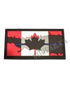"Thin Blue Line Canadian Flag- 3""x1.5"""