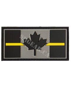 Thin Yellow Line PVC Patch