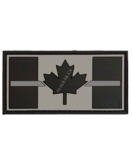 911GEAR.CA Thin Silver Line PVC Corrections Patch