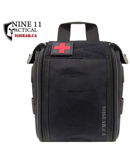911 Tactical Front Zip MOLLE Utility / First Aid Pouch