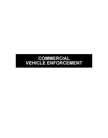 Silicone Note Page Band single - COMMERCIAL VEHICLE ENFORCEMENT