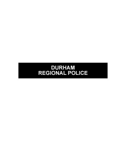 Silicone Note Page Bands (Singles) - DURHAM REGIONAL POLICE