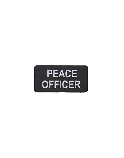 "PEACE OFFICER  Patch 8"" - Non Reflective"