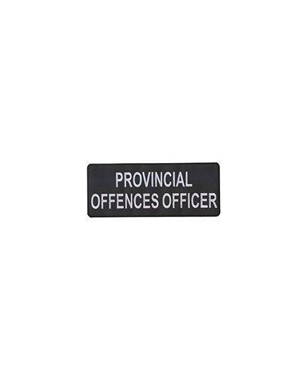 Provincial Offences Officer I.D Bar (12.5 cm x 6 cm)