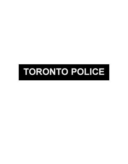 Silicone Note Page Bands (Singles) - TORONTO POLICE