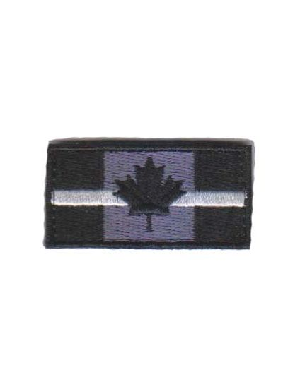 Embroidered Thin White Line Patch (velcro)