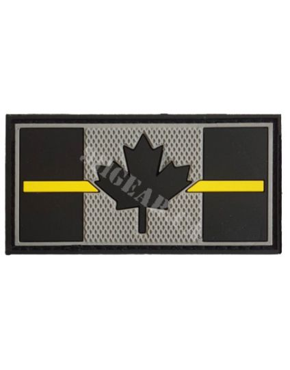 "Thin Yellow Line PVC SECURITY Patch -  3"" x 1.5"""