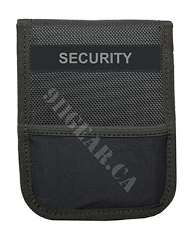 Patrol Notebook Cover with I.D Holder - SECURITY Printed