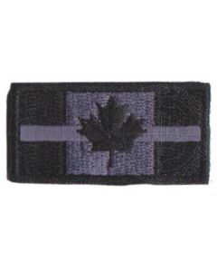 Embroidered Thin Silver Line Corrections Patch (velcro)