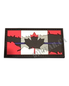 "Thin Blue Line Canadian Flag- 3""x1.5"""