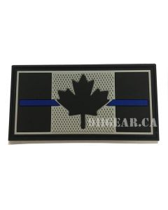 Thin Blue Line Patch PVC 911gear.ca
