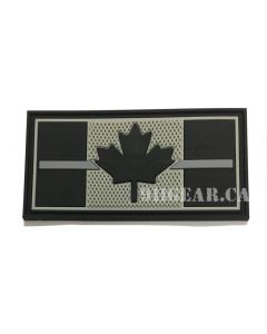 Thin Silver Line Canadian Flag - Corrections 911gear.ca