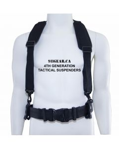 4th Gen Tactical Suspenders with Wide Backing- 911gear.ca