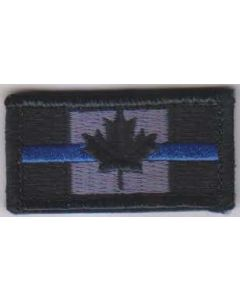 Embroidered Blue Line Police Patch (velcro) - 10 PACK