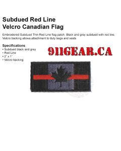 Embroidered Thin Red Line Patch (velcro)