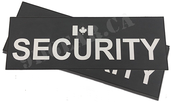PVC SECURITY duty bag patch