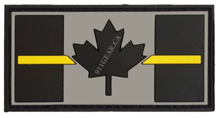 PVC SECURITY thin yellow line patch