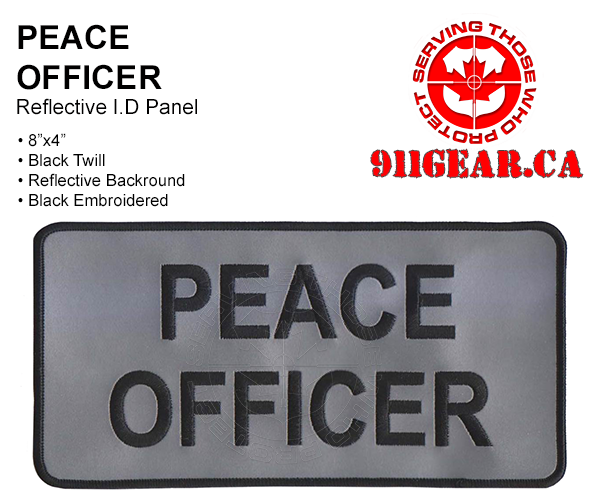 911gear.ca Reflective PEACE OFFICER uniform patch 8