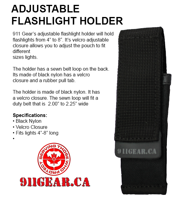 Adjustable Flashlight Holder