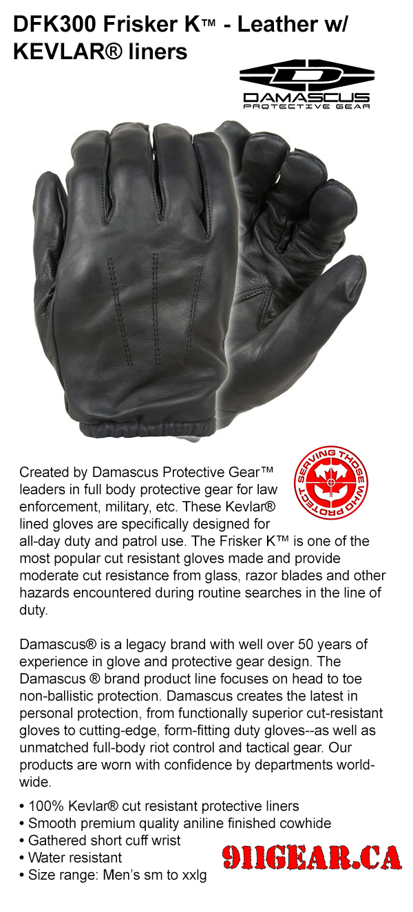 1Damascus DFK350, DFS2000 and Enforcer K gloves available at 911gear.ca