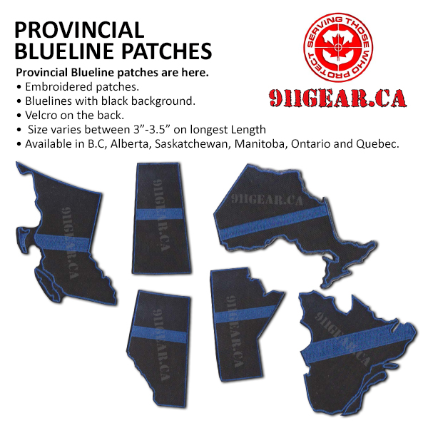 provincial thin blue line patches available at 911gear.ca