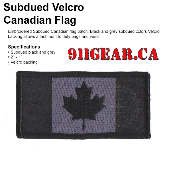 subdued embroidered canadian flag patch available at 911gear.ca