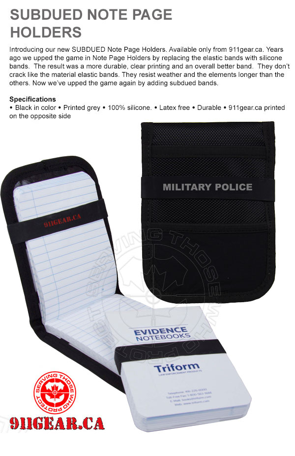 subdued military police note page bands 911gear.ca