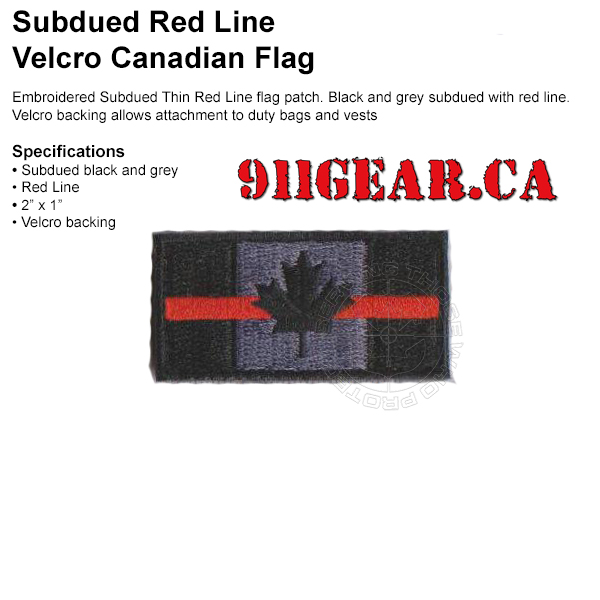 thin red line patch available at 911gear.ca