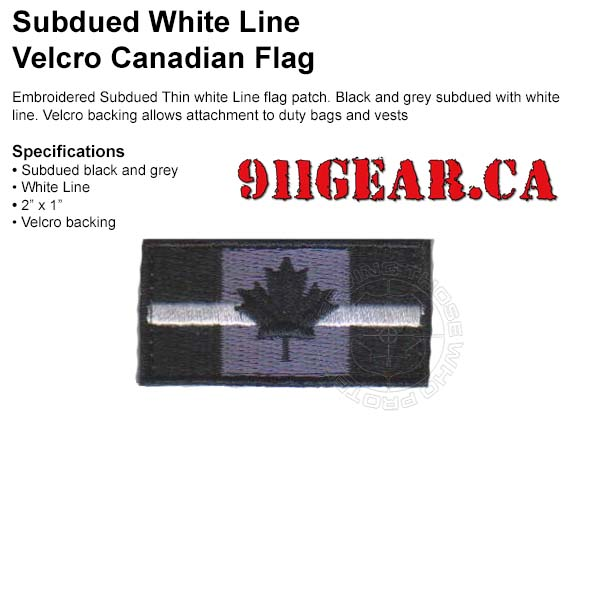 thin white line patch available at 911gear.ca